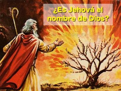 Resultado de imagen para DIOS NO SE LLAMA JEHOVA