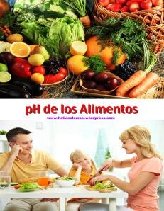 Alimentación Sana depende del ph Alimentos