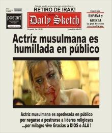 La Actriz musulmana es humillada en público