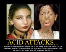 mujeres musulmanas acid attacks muslim